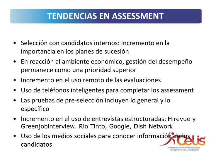 TENDENCIAS EN ASSESSMENT