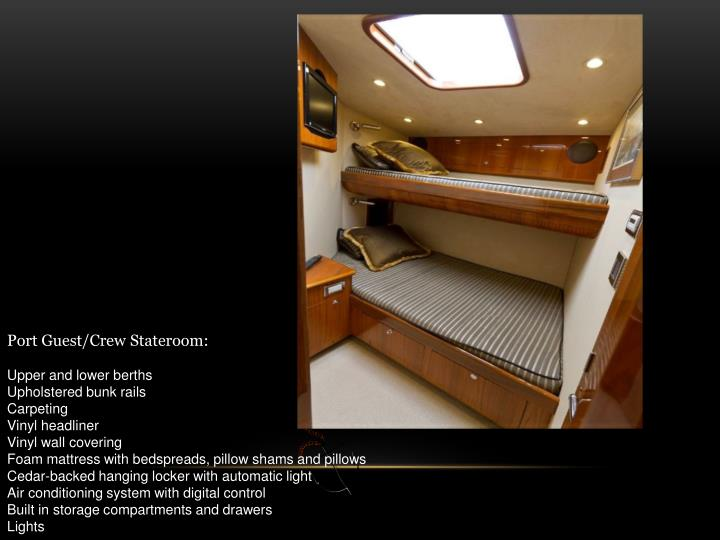 Port Guest/Crew Stateroom: