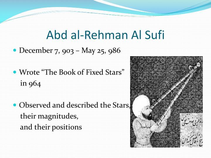 Abd al-Rehman Al Sufi