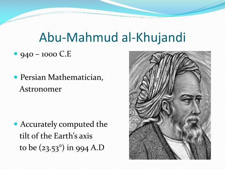 Abu-Mahmud al-Khujandi