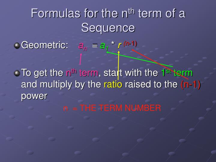 Formulas for the n