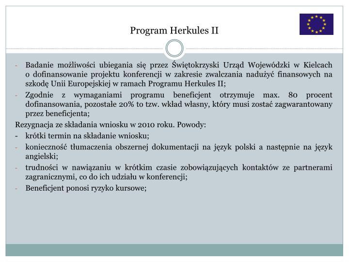 Program Herkules II