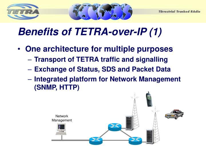 Benefits of TETRA-over-IP (1)