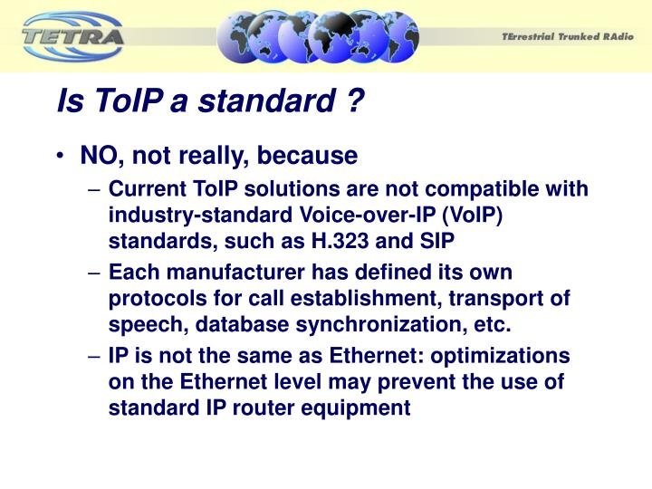 Is ToIP a standard ?