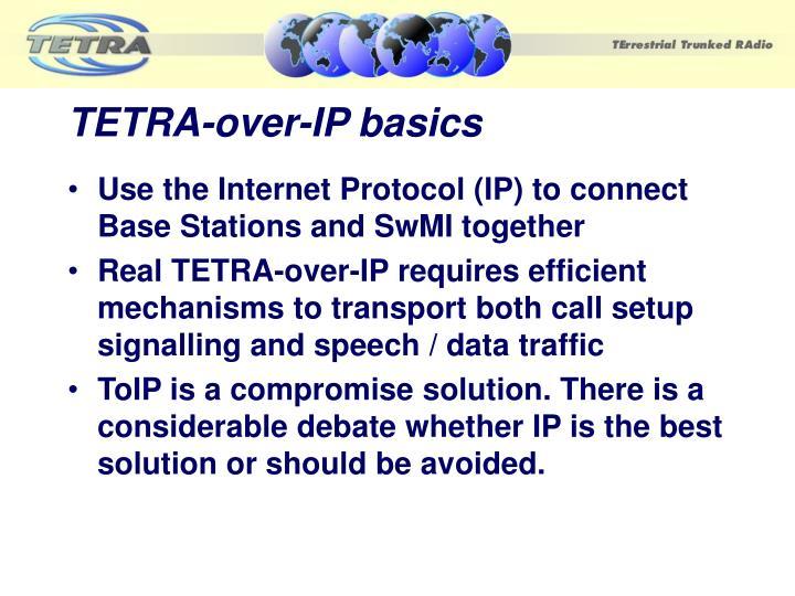TETRA-over-IP basics