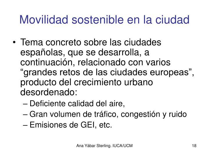Movilidad sostenible en la ciudad