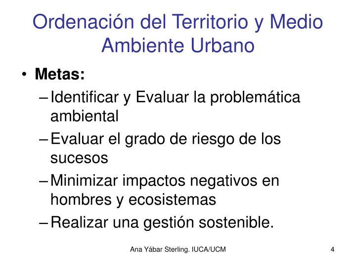 Ordenación del Territorio y Medio Ambiente Urbano