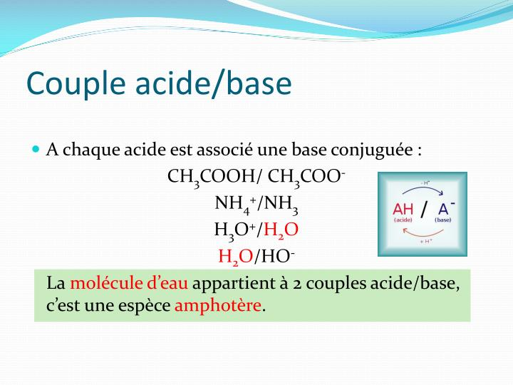 Couple acide/base