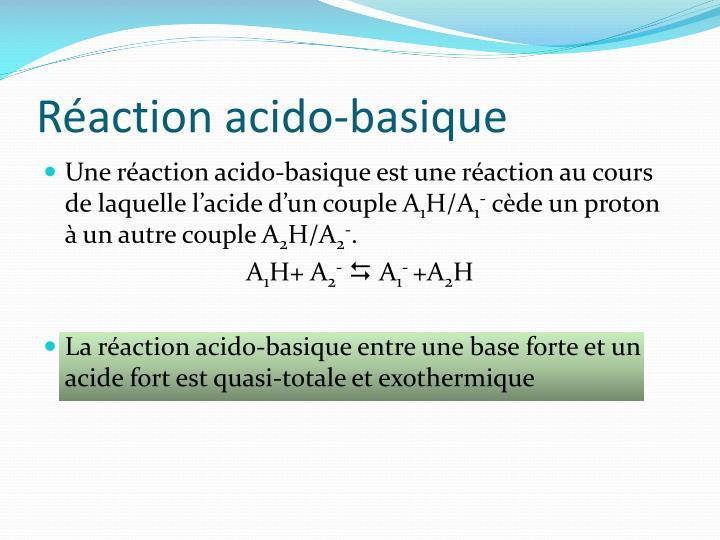 Réaction acido-basique