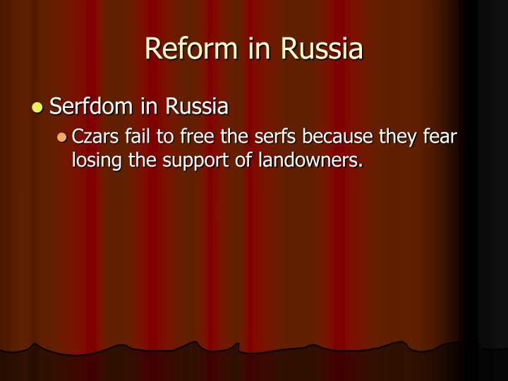 Reform in Russia