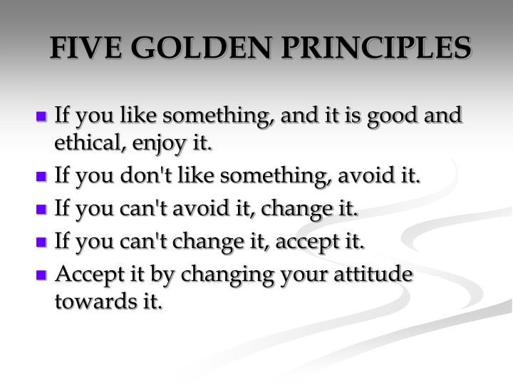 FIVE GOLDEN PRINCIPLES