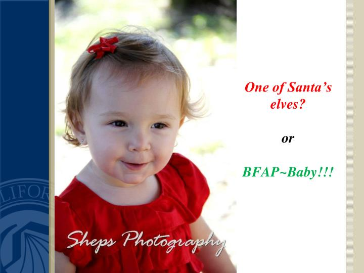 One of Santa's elves?