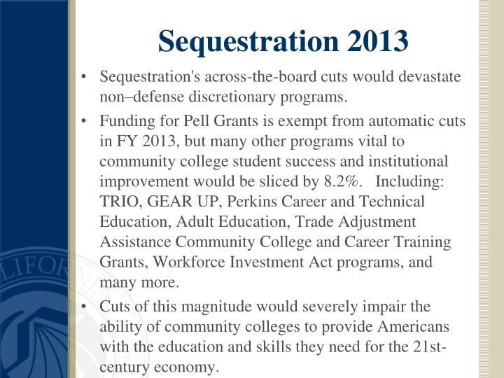 Sequestration 2013