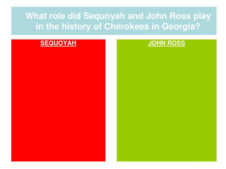 What role did Sequoyah and John Ross play in the history of Cherokees in Georgia?
