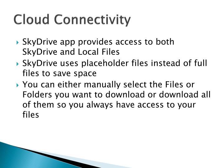 Cloud Connectivity