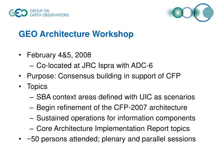GEO Architecture Workshop