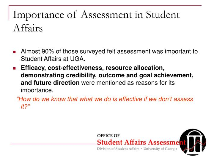 Importance of Assessment in Student Affairs