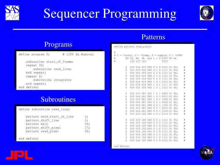 Sequencer Programming