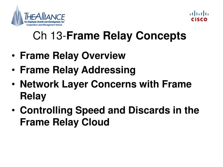Ch 13 frame relay concepts