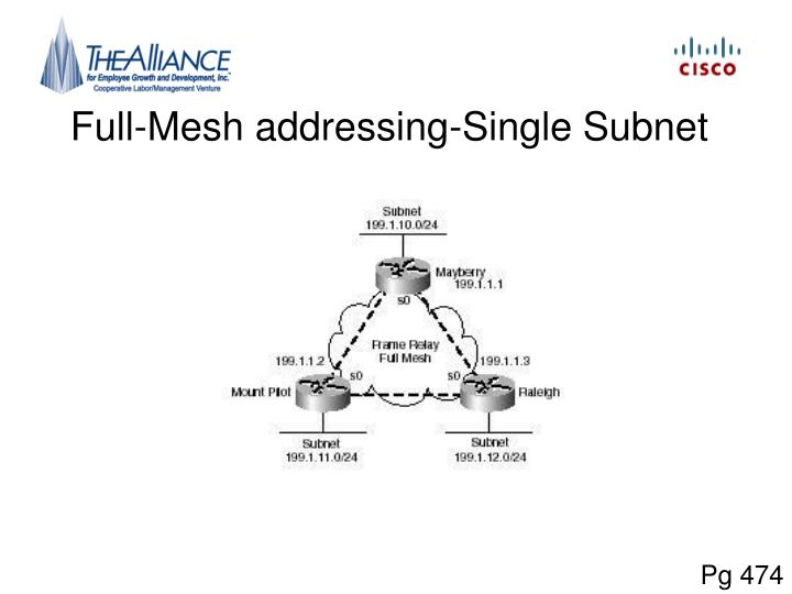 Full-Mesh addressing-Single Subnet