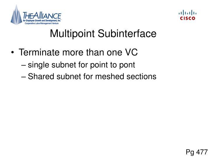 Multipoint Subinterface