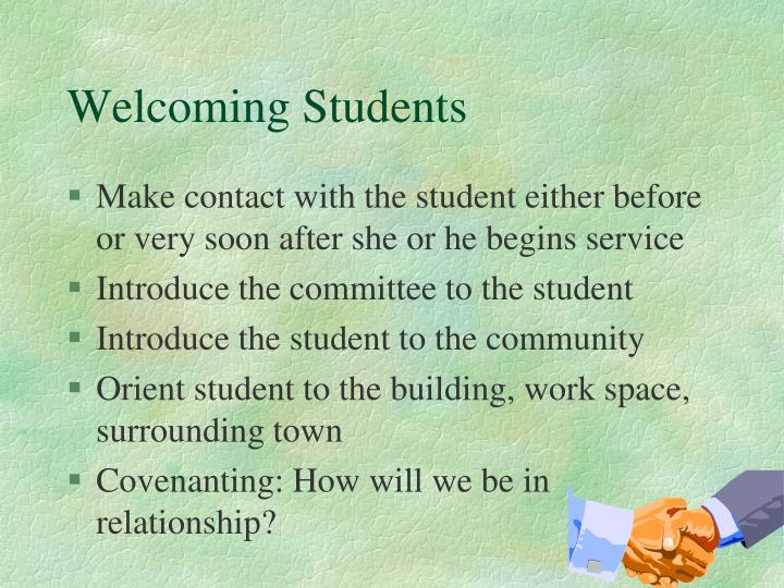 Welcoming Students