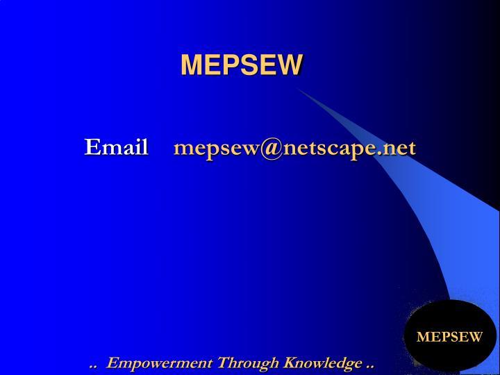 MEPSEW