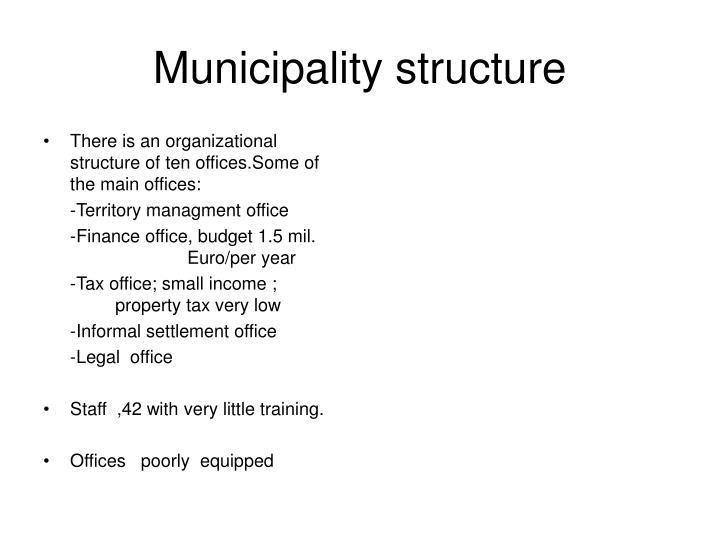 Municipality structure