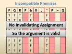 incompatible premises23