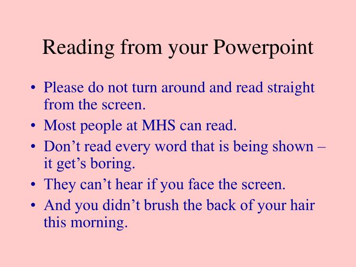 Reading from your Powerpoint