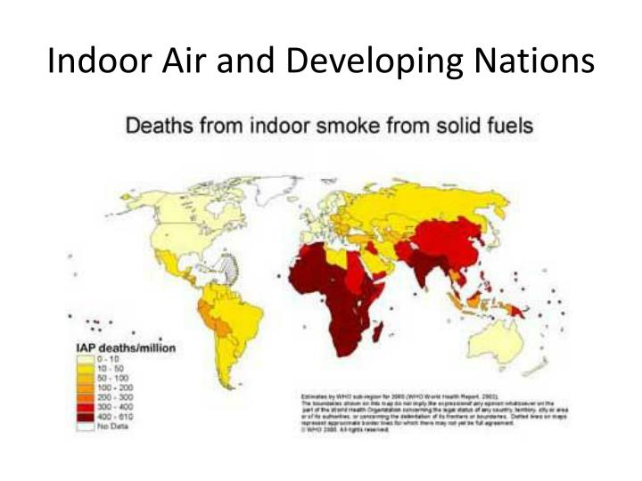 Indoor air and developing nations