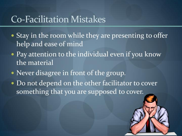 Co-Facilitation Mistakes