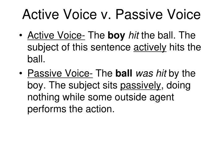 Active Voice v. Passive Voice