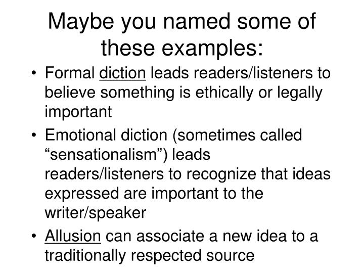 Maybe you named some of these examples: