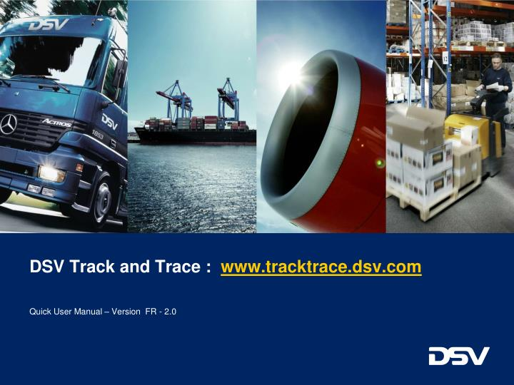 DSV Track and Trace :