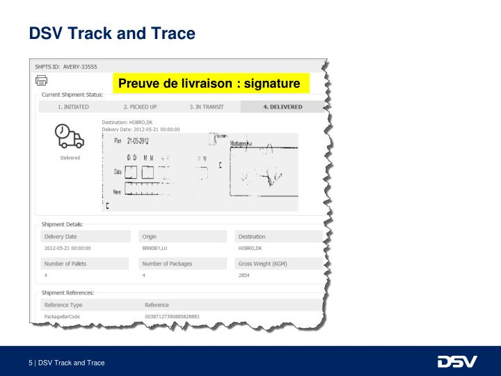 DSV Track and Trace