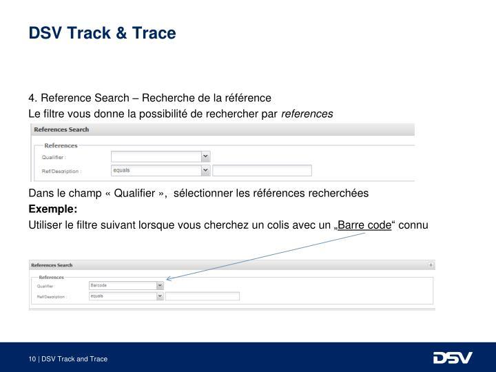 DSV Track & Trace