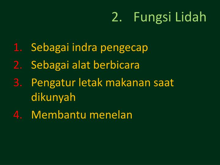 Fungsi Lidah