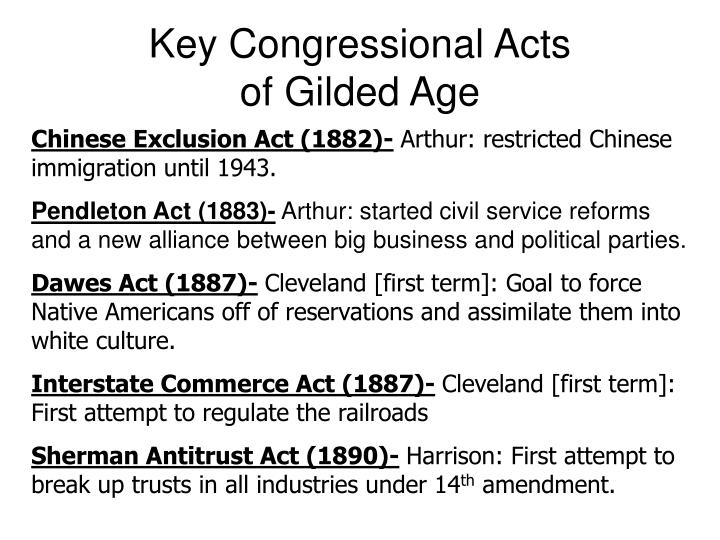 Key Congressional Acts