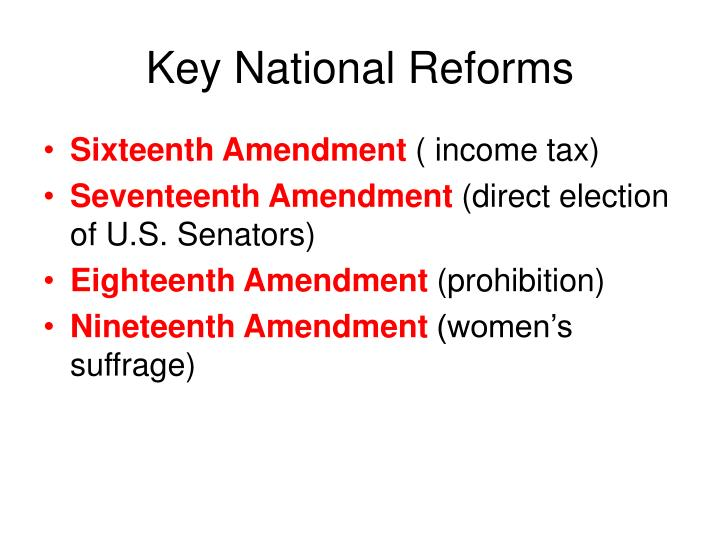Key National Reforms