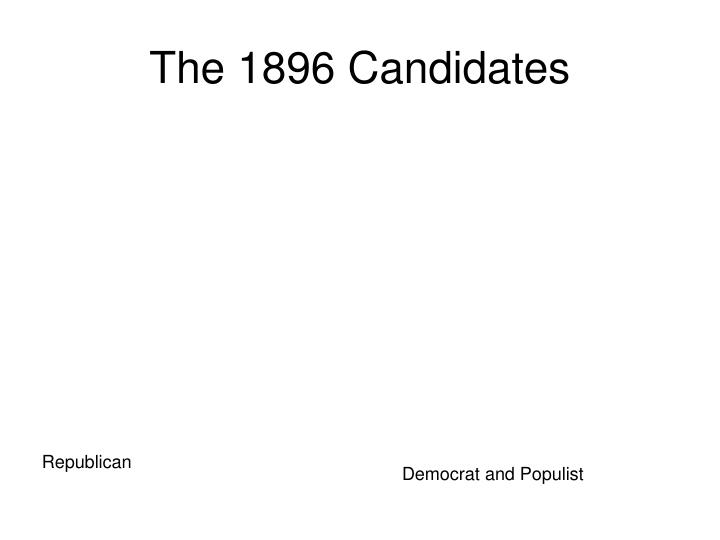 The 1896 Candidates