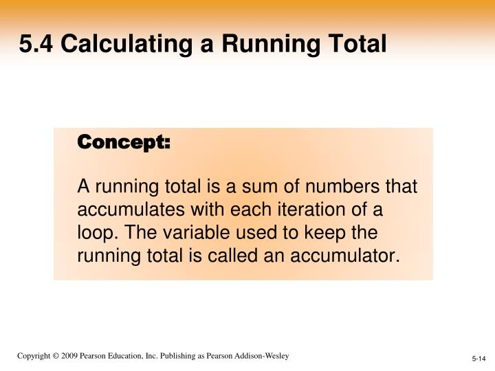 5.4 Calculating a Running Total