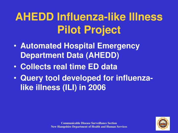 AHEDD Influenza-like Illness  Pilot Project