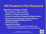 nh pandemic plan revisions