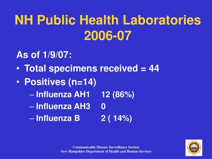 NH Public Health Laboratories 2006-07