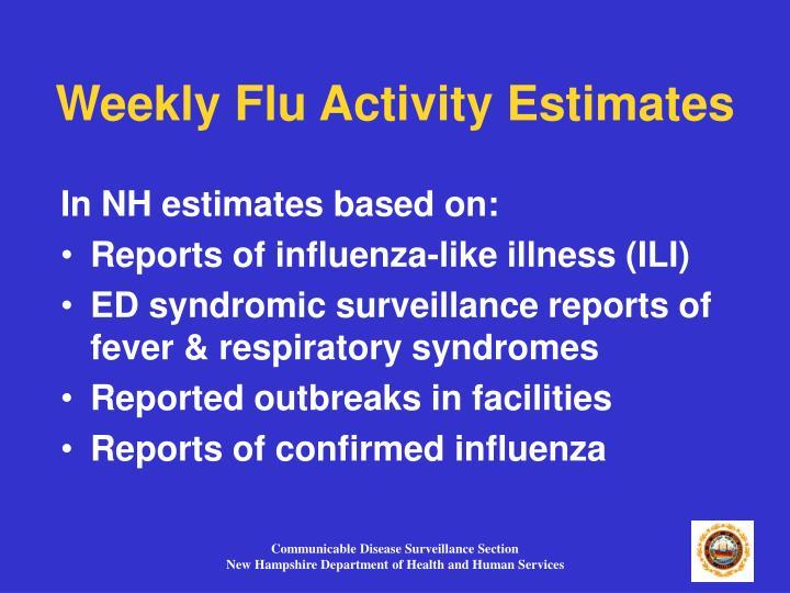 Weekly Flu Activity Estimates