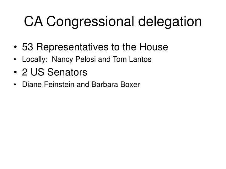 CA Congressional delegation