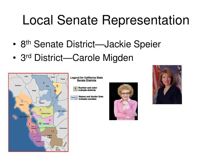 Local Senate Representation