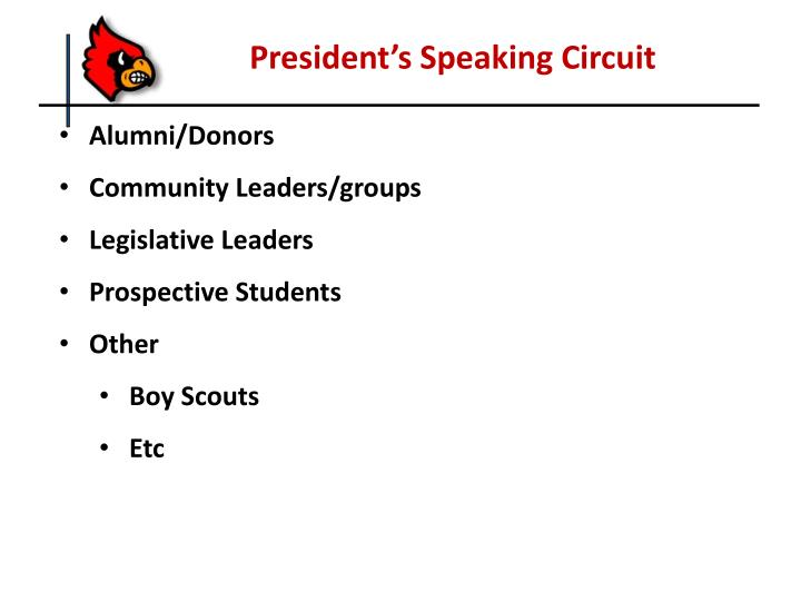 President's Speaking Circuit