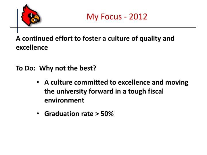 My Focus - 2012